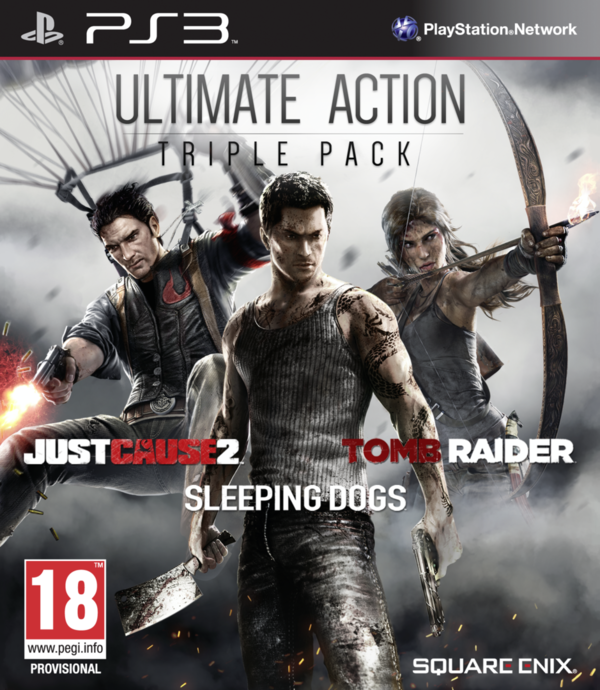 Ultimate Action Triple Pack (Just Cause 2 + Sleeping Dogs + Tomb Raider) PS3 (käytetty)