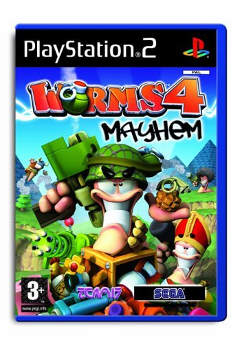 Worms 4 Mayhem PS2 (käytetty) CiB