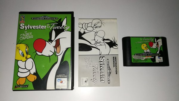 Sylvester and Tweety in Cagey Capers SEGA Mega Drive (kätetty) CiB