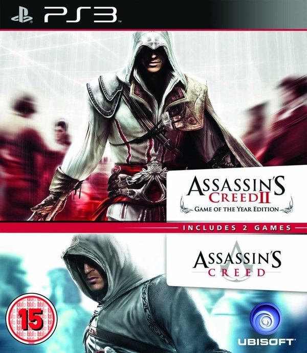 Assassin's Creed + Assassin's Creed II GOTY Edition Double Pack PS3 (käytetty)