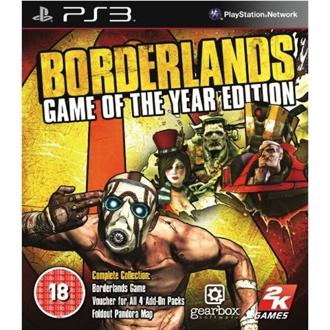 Borderlands Game Of The Year Edition PS3 (käytetty)