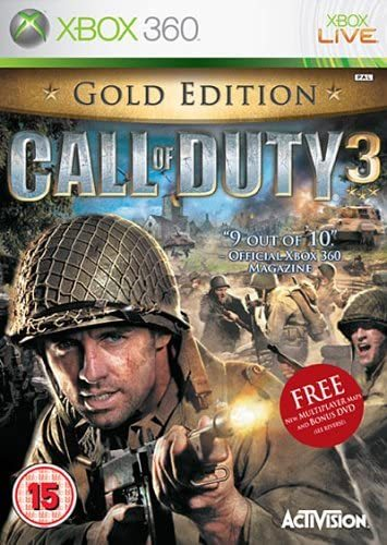 Call of Duty 3 Gold Edition Xbox 360 (käytetty)