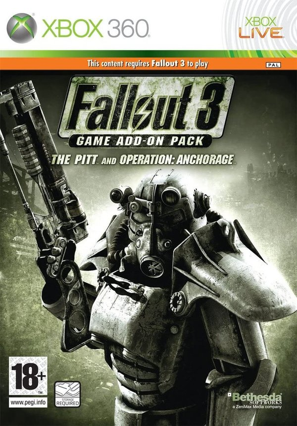 Fallout 3 Game Add-On Pack - The Pitt and Operation Anchorage Xbox 360 (käytetty)